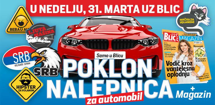 "Auto stikeri na poklon uz ""Blic"""