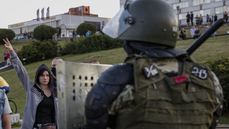 Białoruś protesty w Mińsku