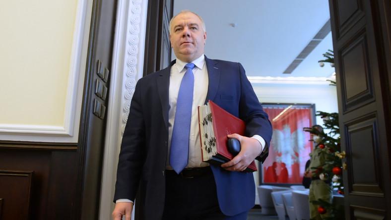 Sekretarz stanu w Kancelarii Prezesa Rady Ministrów oraz przewodniczący Komitetu Stałego Rady Ministrów, Jacek Sasin.