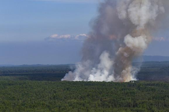 Usled povišenih temperatura izbio je šumski požar ogromnih razmera