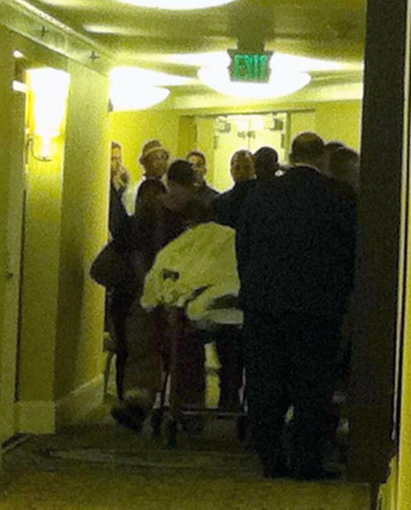 Ciało Whitney Houston wywożone z hotelu w Beverly Hills
