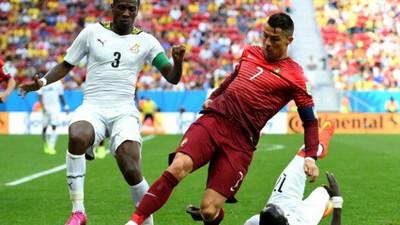 Cristiano Ronaldo equals Asamoah Gyan's record of scoring in 9 consecutive international tournaments