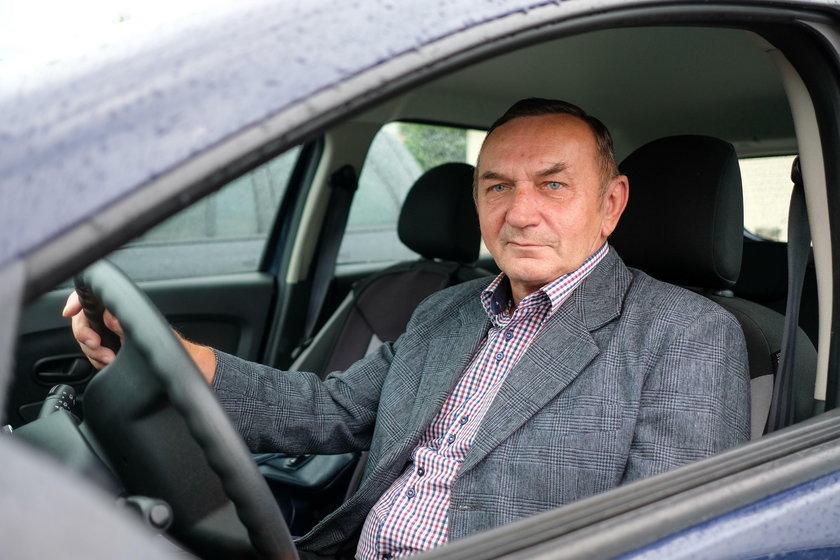 Tadeusz Wrona (67 l.), kieorwca z Jankowic