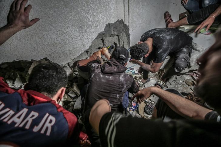 A Hamász hétfőn kezdte el rakétákkal támadni Izraelt, és ez váltotta ki az izraeli ellencsapást / Fotó: MTI