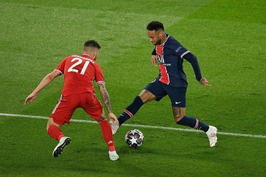Neymar w walce z Lucasem Hernandezem