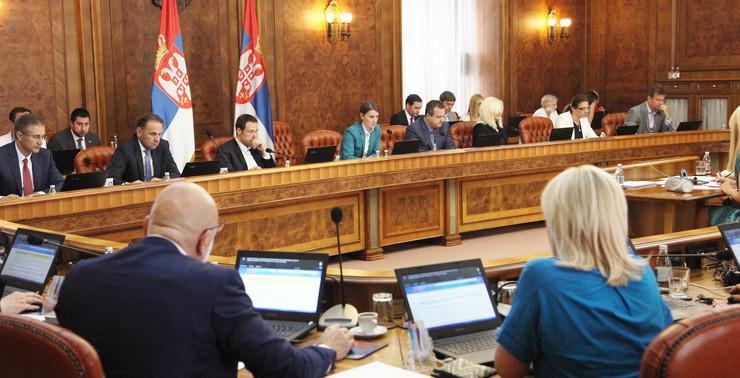 Vlada Srbije, sednica