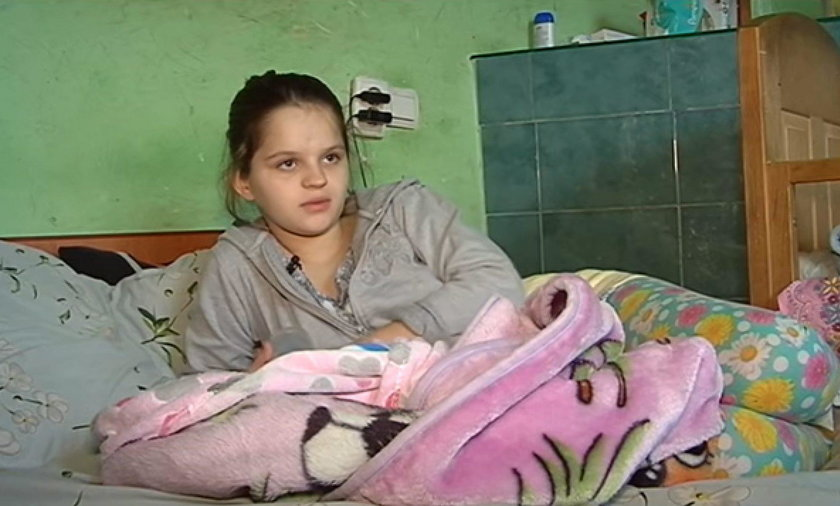 12-letnia Tania Luciszyn urodziła dziewczynkę Dianę