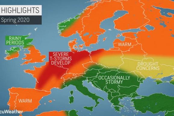 Kakvo će biti PROLEĆE U EVROPI? Na zapadu i istoku sparina, a prognoza za Balkan vam se NEĆE SVIDETI