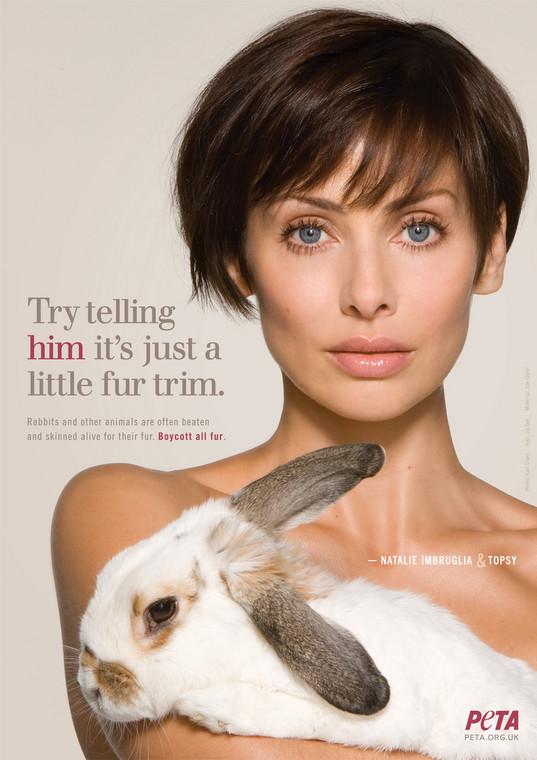 Natalie Imbruglia rozebrała się dla króliczków
