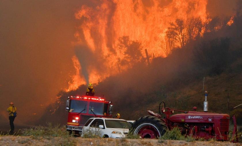 Pożar w Los Angeles. Terminator ewakuowany