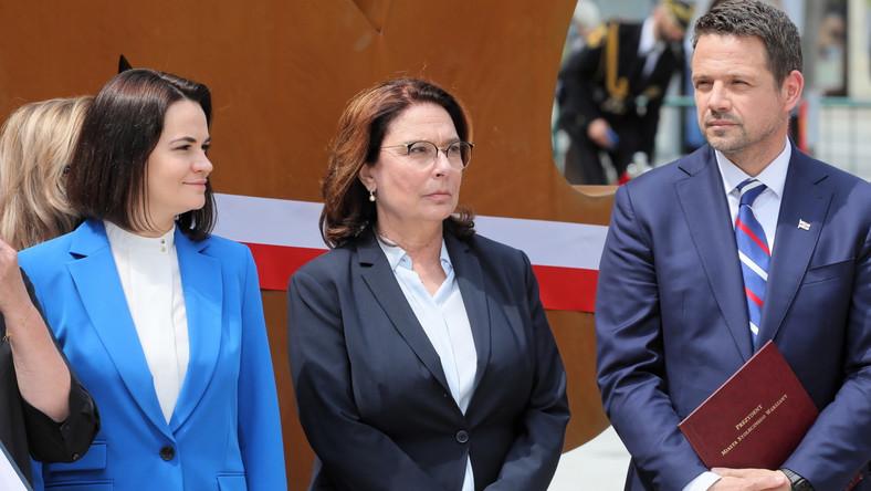 Swiatłana Cichanouska, Rafał Trzaskowski, Małgorzata Kidawa-Błońska
