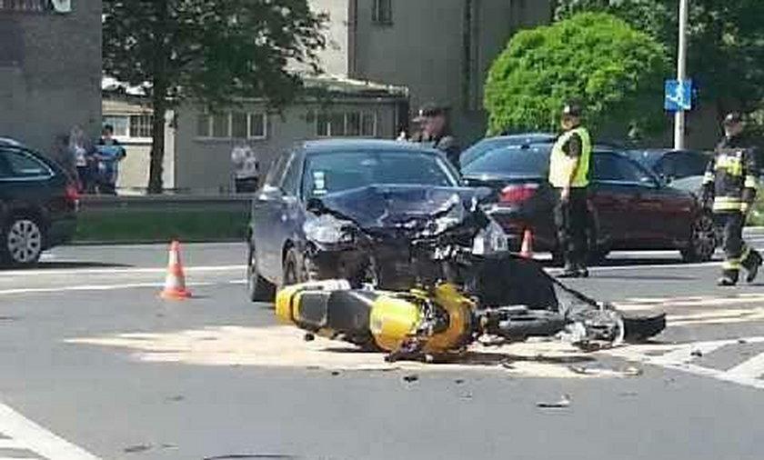 Wypadek motocyklisty w Opolu
