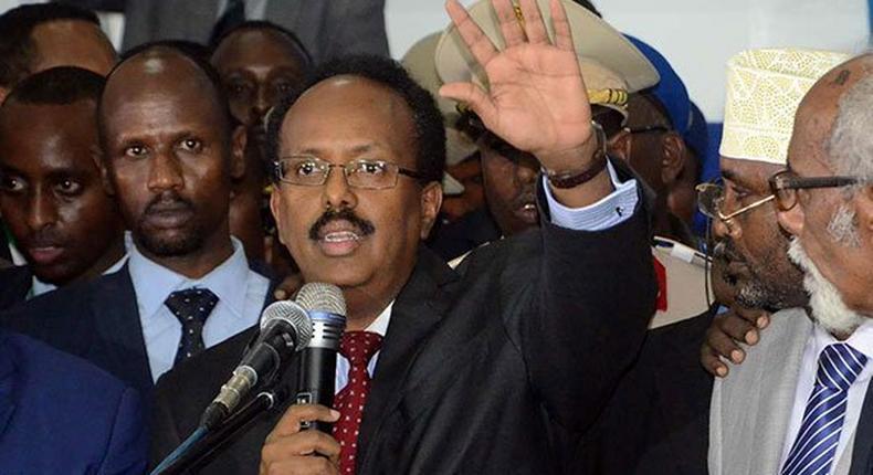 File image of President of Somalia Mohamed Abdullahi Farmajo