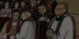 Ksiądz proboszcz na freskach w kościele