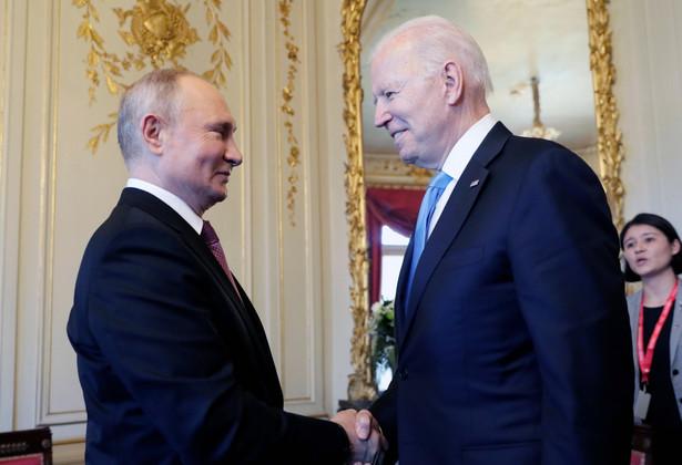 Władimir Putin oraz Joe Biden