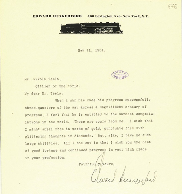 Pismo Edvarda Hungerforda