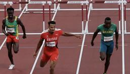 Louis François Mendy termine 7e au 110m haies série avec un temps de 13'84