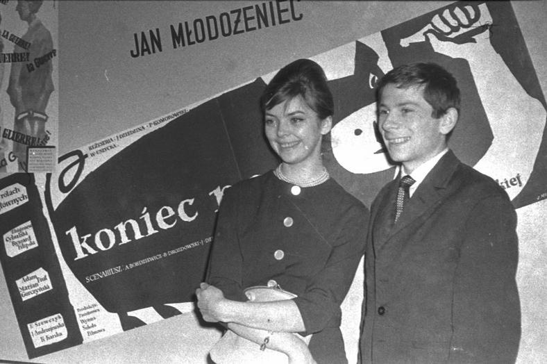 Barbara Kwiatkowska-Lass z mężem Romanem Polańskim, 1960 r.