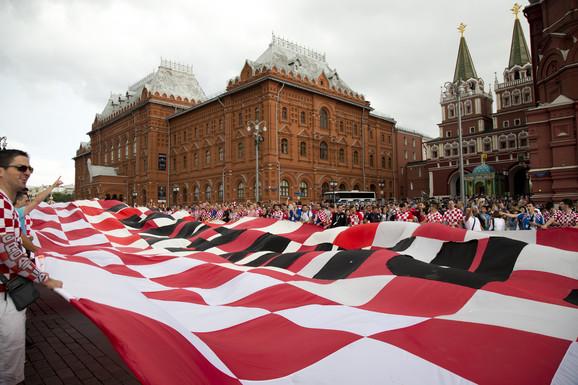 Zastava koja se vijorila na Crvenom trgu