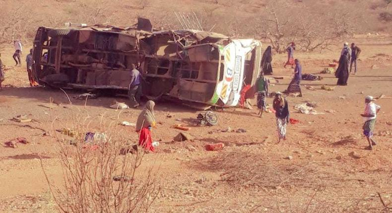 2 dead several injured as Mandera bound bus hits IED (Courtesy)