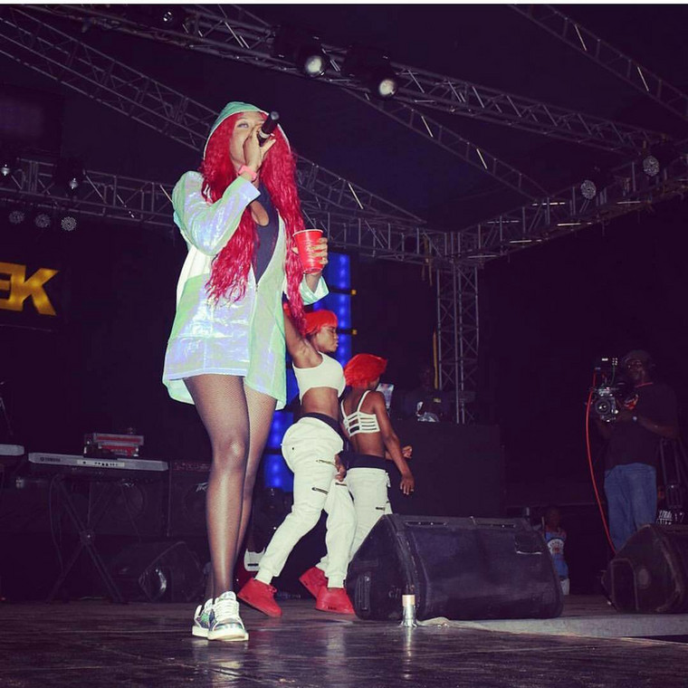 "Morgan shot into limelight following the release of two singles titled ""Don't Break My Heart"" in 2014 and ""Lead Me On.'' [Instagram/TeamCynthiaMorgan]"