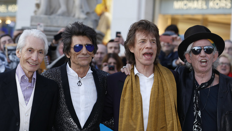 Członkowie The Rolling Stones: Charlie Watts, Ronnie Wood, Mick Jagger i Keith Richards
