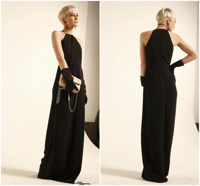 Gola ramena i maxi dužina su recept za dobru haljinu