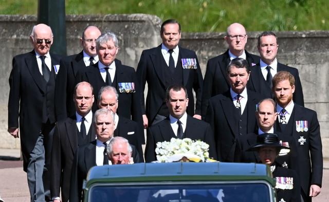 Princ Hari na sahrani princa Filipa