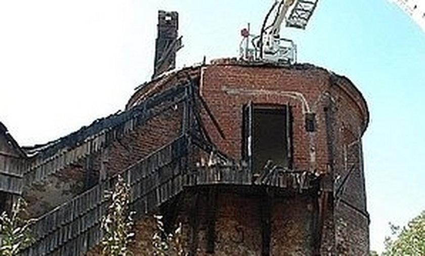 Spalona baszta w Jarosławiu