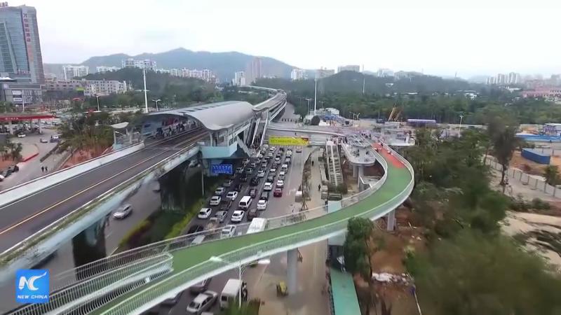 Rekordowa ściezka rowerowa, Chiny