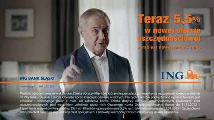 Marek Kondrat w reklamie ING