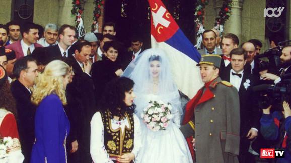 Ceca na svadbi sa Arkanom
