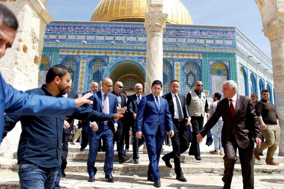 Moroccan Foreign Minister Nasser Bourita visits the compound known to Muslims as Noble Sanctuary and