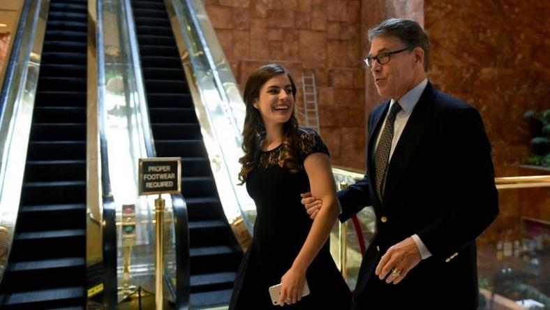 Former Texas Governor Rick Perry arrives at Trump Tower on November 21, 2016 in New York