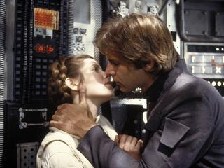 "Carrie Fisher i Harrison Ford w ""Imperium kontratakuje"""