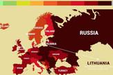 Mapa nezdravih nacija u Evropi