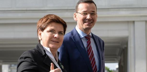 Premier Beata Szydło oraz minister rozwoju Mateusz Morawiecki