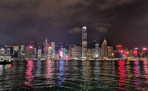Hongkong w nocy