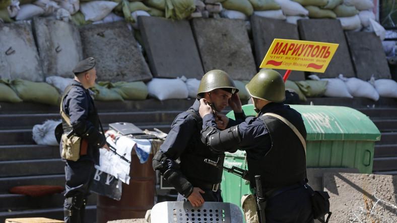 Ukraińska milicja w Mariupolu