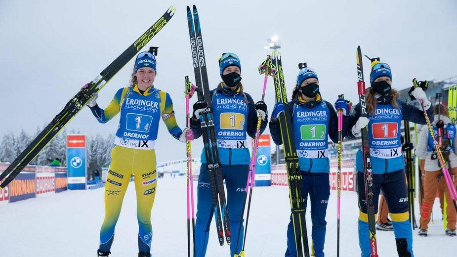 Od lewej: Hanna Oeberg, Elvira Oeberg, Linn Persson, Mona Brorsson