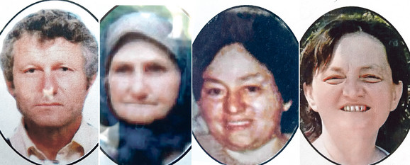 Žrtve: Raja Kazimirović, Dragica Kazimirović, Ljubinka Oprkić i Dragana Kozeljić