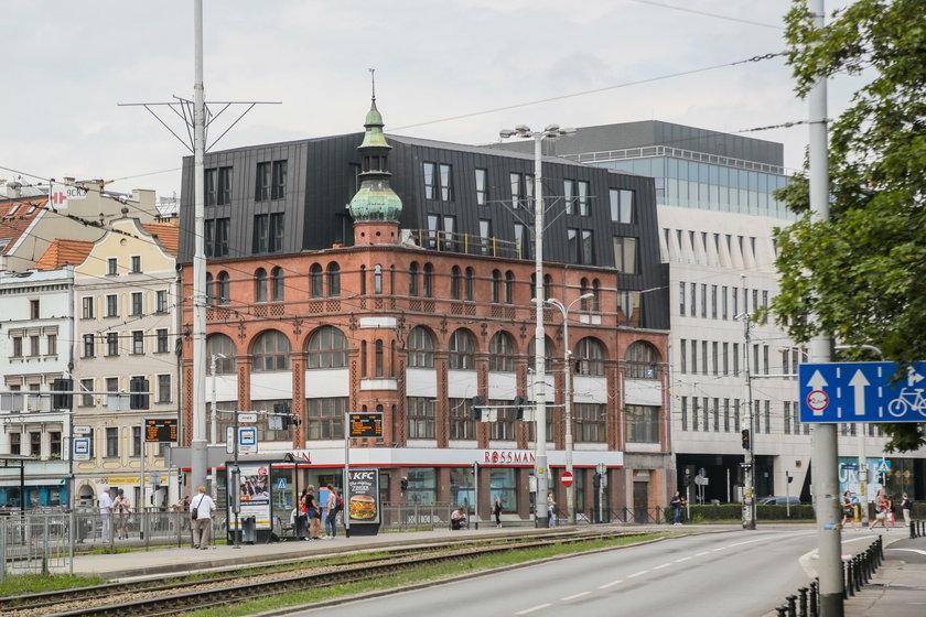 Dom towarowy na rogu ul. Kazimierza Wielkiego i Ruskiej