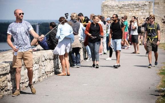 Turisti na Kalemegdanu