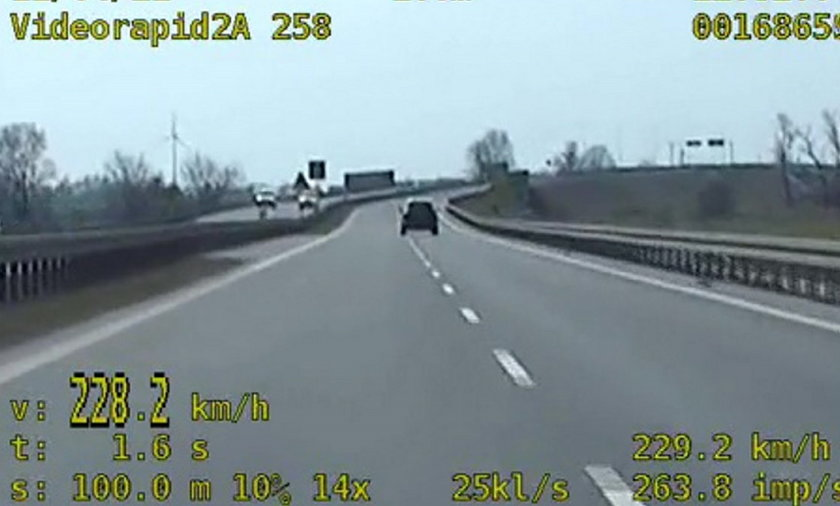Pirat drogowy na obwodnicy Inowrocławia. Zobacz nagranie.