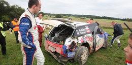 Kubica miał wypadek. Dachował!
