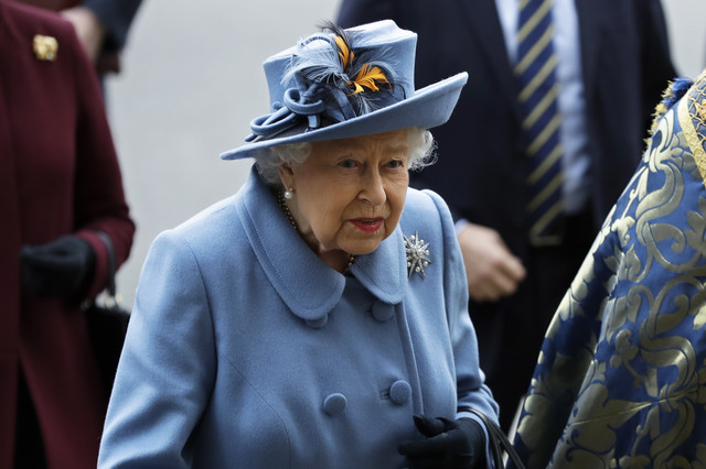 Kraljica Elizabeta 20200309 ap kirsty wigglesworth london Di018386665