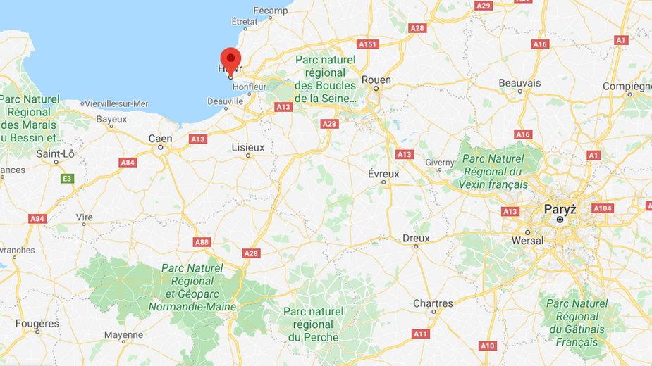Hawr (Le Havre,) leży w północnej części Francji