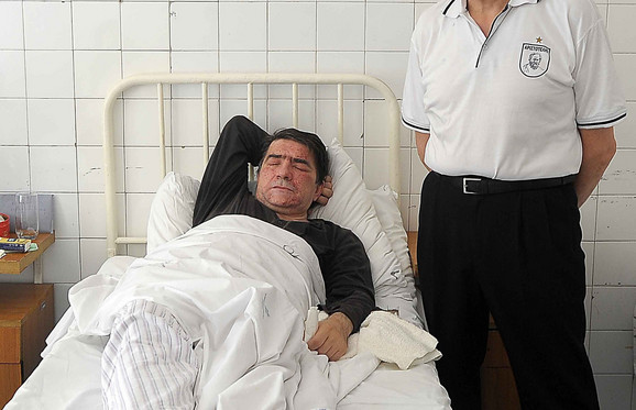 Advokat Nenad Vukasović u bolnici