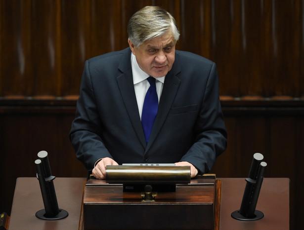 Wystąpienie ministra rolnictwa Krzysztofa Jurgiela