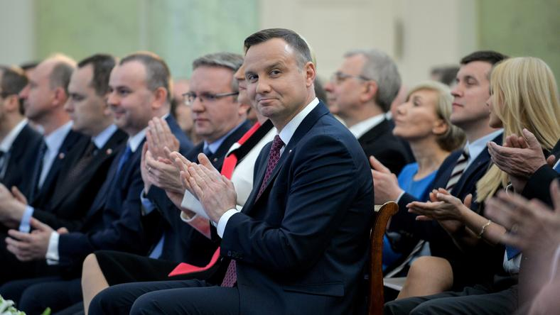 Andrzej Duda na spotkaniu w Pałacu Prezydenckim 20 kwietnia 2017